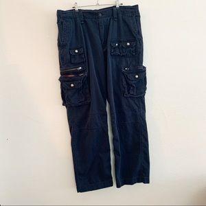 Polo Ralph Lauren Vintage Cargo Pants Navy Blue